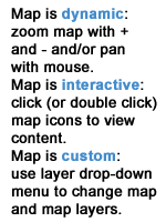 Map is dynamic, interactive and custom.